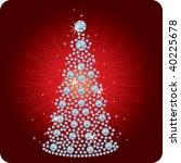 Christmas Tree Diamond / vector illustration - stock vector