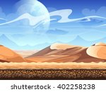 seamless desert with... | Shutterstock .eps vector #402258238