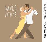 couple dancing. tango argentina.... | Shutterstock .eps vector #402260404