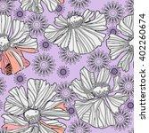 art vintage stylized flowers... | Shutterstock . vector #402260674