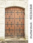 Old Wooden Door In...