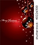 vector christmas background | Shutterstock .eps vector #40226500