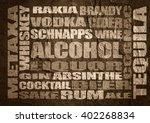 different drinks list. drink... | Shutterstock . vector #402268834
