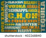different drinks list. drink... | Shutterstock . vector #402268840