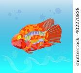 polygon graphics  sea fish | Shutterstock .eps vector #402270838