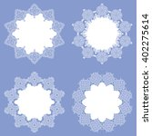 a collection of lacy napkins .... | Shutterstock .eps vector #402275614