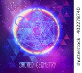 metatrons cube   flower of life.... | Shutterstock .eps vector #402278740