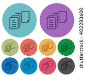 color move file flat icon set...