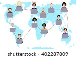 concept of distance education... | Shutterstock .eps vector #402287809