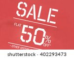 discount sale sign | Shutterstock . vector #402293473