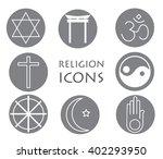 set of religion icons | Shutterstock .eps vector #402293950