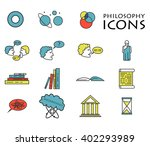 set of colorful philosophy icons   Shutterstock .eps vector #402293989