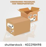 cardboard packaging for... | Shutterstock .eps vector #402298498