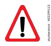 warning sign | Shutterstock .eps vector #402299113