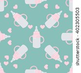 baby bottle pattern | Shutterstock .eps vector #402305503