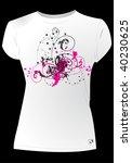 pink t shirt design | Shutterstock .eps vector #40230625