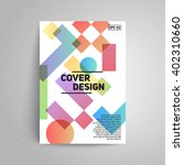 cover design. a4 format... | Shutterstock .eps vector #402310660