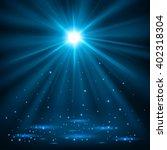 blue spotlights shining with...   Shutterstock . vector #402318304