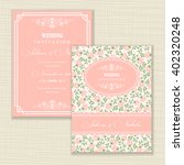 wedding invitation card with... | Shutterstock .eps vector #402320248