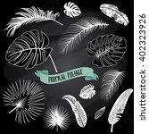 set of trendy black and white... | Shutterstock .eps vector #402323926