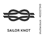 sailor knot. nautical rope... | Shutterstock .eps vector #402327343