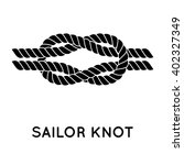 sailor knot. nautical rope... | Shutterstock .eps vector #402327349