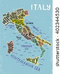italy regions map   unique... | Shutterstock .eps vector #402344530