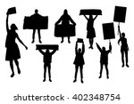 protest people silhouette.... | Shutterstock .eps vector #402348754