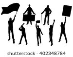 protest people silhouette. men... | Shutterstock .eps vector #402348784