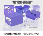 cardboard packaging for... | Shutterstock .eps vector #402348790