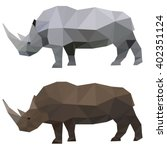 rhino. abstract polygonal... | Shutterstock .eps vector #402351124