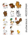 set of different farm animals... | Shutterstock .eps vector #402353464