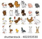 set of different animals on a... | Shutterstock .eps vector #402353530