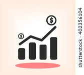 pictograph of graph | Shutterstock .eps vector #402356104
