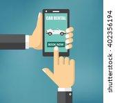 illustration of renting a car... | Shutterstock .eps vector #402356194