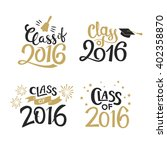 set of graduation labels.... | Shutterstock .eps vector #402358870