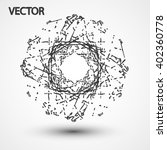 wireframe polygonal elements... | Shutterstock .eps vector #402360778