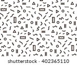 seamless pattern in black... | Shutterstock .eps vector #402365110