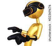 virtual reality vr concept... | Shutterstock . vector #402369676
