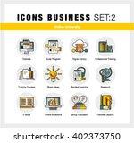 modern flat design linear... | Shutterstock .eps vector #402373750