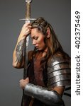 Fantastic Woman Warrior With...
