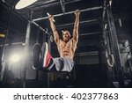 shirtless bearded man doing... | Shutterstock . vector #402377863