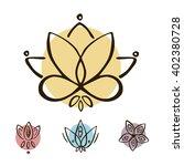 lotus. indian mendi designs....   Shutterstock .eps vector #402380728