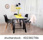 dining table in home interior | Shutterstock . vector #402382786