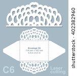 vector die cut envelope... | Shutterstock .eps vector #402382960