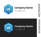 ui letters   abstract polygonal ...