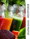 Four Kind Of Vegetable Juices ...