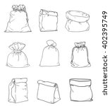 canvas sack vector. canvas bag. ... | Shutterstock .eps vector #402395749