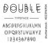 double script typeface   ... | Shutterstock .eps vector #402396904