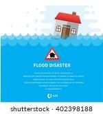 building soaking under flood...   Shutterstock .eps vector #402398188